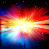abstract background with stars and supernova