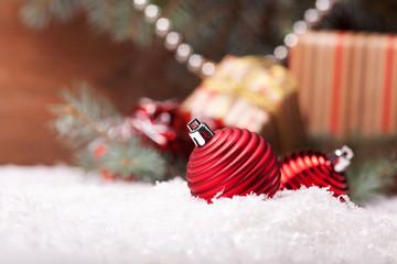 christmas image with balls