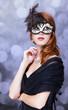 Fashion women with mask.