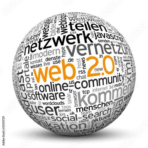 Kugel, Web 2.0, Netzwerk, Community, Portale, Chat, Social, 3D