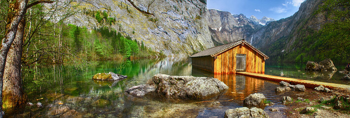 pictorial Alpine nature, Konigsee lake, Bavaria