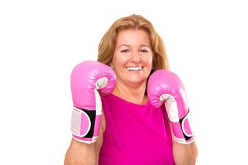 Happy Blonde Female Boxer