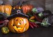 Halloween-Herbststimmung in der Küche