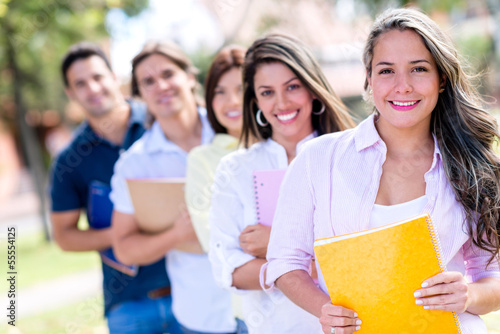 Group of collage students