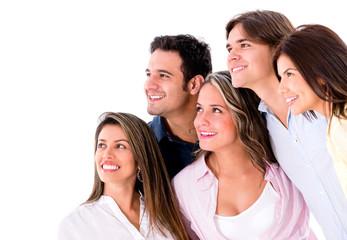 Group of people looking something