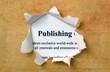 Publishing text on paperhole