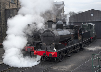 restored steam locomotives
