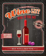 Vintage Wine label poster