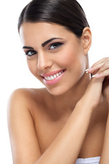 healthy smiling beauty woman