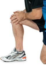 erwachsener sportlicher mann mit knieproblemen sport unfall