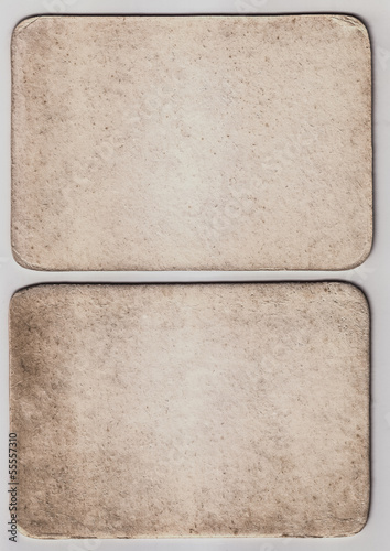Vintage Paper Card Texture On  White Background