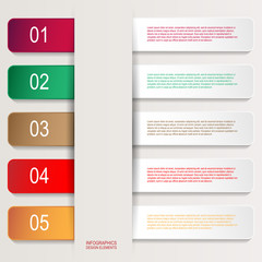 Paper infographic elements