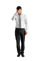 despairing businessman