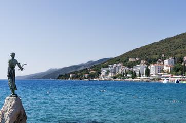 Opatija Croazia Statua Spiaggia