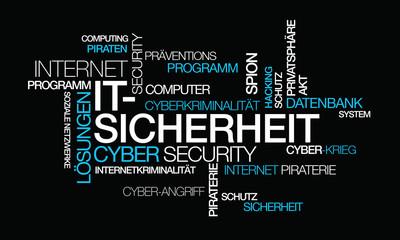 IT-Sicherheit Schutz Internetkriminalität Wort tag cloud