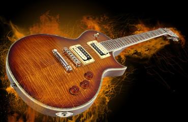 Guitarra en llamas
