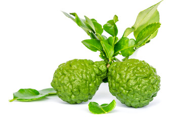 Fresh kaffir lime with leaves