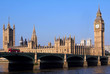 London, Parliament Building and Westminster Bridge,