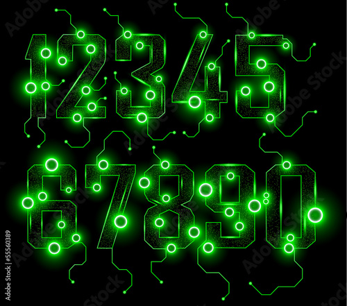 Vector illustration. EPS 10. SET abstract NUMBERS.