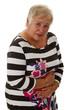 Seniorin hat Magenschmerzen