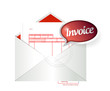 invoice envelope illustration design