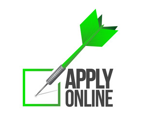 apply online check mark dart illustration