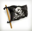 Jolly Roger, vector icon