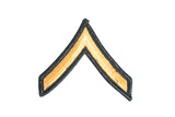 us army private rank patch