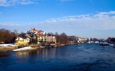 River Danube in Winter