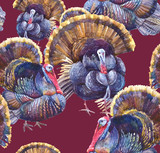 Animals Seamless Pattern, Turkey