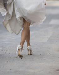 White beautiful bride shoes- wedding details