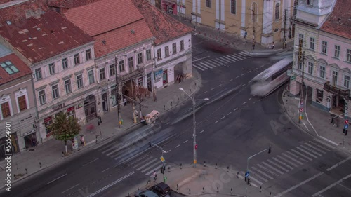Cluj Napoca intersection time lapse