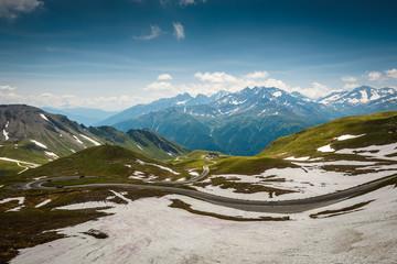 Alpine road-Grossglockner Hohalpenstrasse .