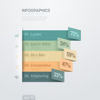 Infographics vector design template. Paper Ribbons