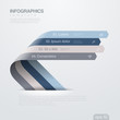 Infographics vector design template. Ribbon arrows