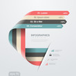 Infographics vector design template trendy ribbon flat style.