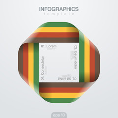 Infographics vector design template. Loop ribbon infinite