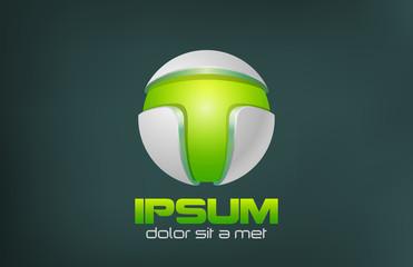 Green Technology Abstract vector logo design. Game concept