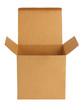 Opened empty cardboard box