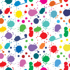 Seamless pattern: a drop of ink
