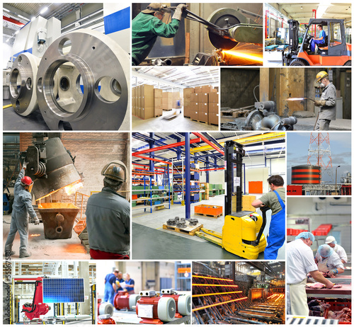 Poster Industrial geb. Industrie Jobs Collage