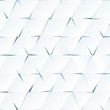 White paper cutout triangles vector background