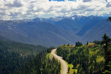 Road toward Hurricane Ridge