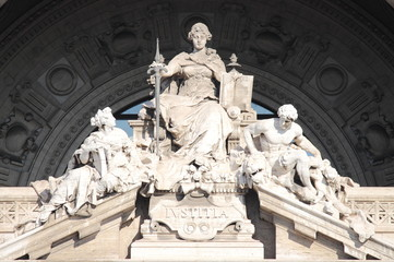 Statue of Justice Goddess in the Courthouse Palace of Rome