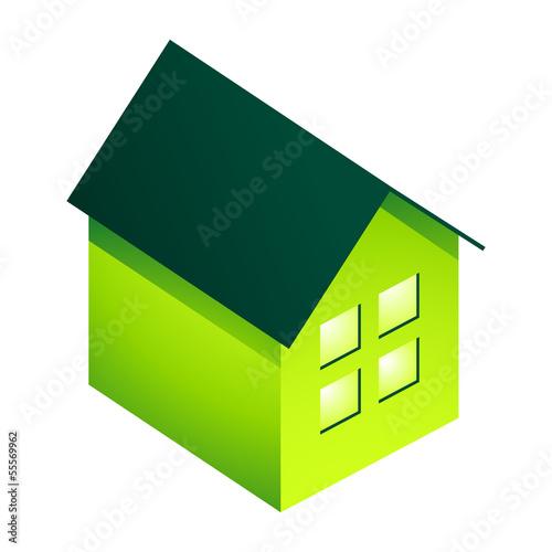 grünes Haus 3D
