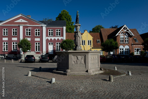 Leinwanddruck Bild Cityscape of Ribe, Denmark