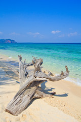 Seascape in the south of Thailand as background