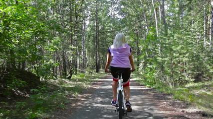 Cycling lady