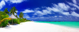 Panorama of beautiful beach on Maldives