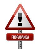 propaganda road sign illustration design poster